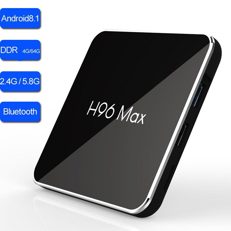 4GB 64GB กล่องทีวี Android 8.1 Amlogic S905X2 Quad Core Dual Band Wifi 2.4G/5.8G บลูทูธสมาร์ท TVbox เครื่องเล่นเกม 4K Media-ใน กล่องรับสัญญาณ จาก อุปกรณ์อิเล็กทรอนิกส์ บน AliExpress - 11.11_สิบเอ็ด สิบเอ็ดวันคนโสด 1