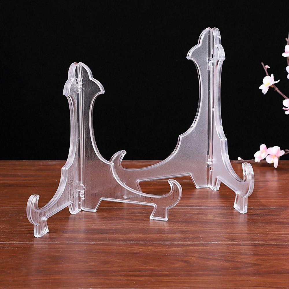 Şövale plaka tutucular şeffaf ekran çanak standı raf düğün fotoğraf resim çerçevesi ekran standı ayaklı tutucu destek