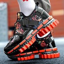 Новые осенние красные мужские повседневные кроссовки с принтом
