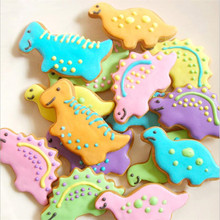 4Pcs/Set Animal Dinosaur Cookie Biscuit Cutter Stainless Steel Cake Fondant Mold Sugarcraft Decorating Mould Pastry Baking Tools