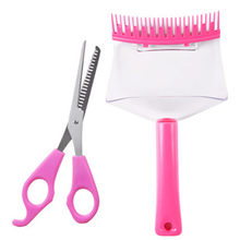 Qi Bang Haar Stijl Trim Set Qi Bang Stijl Shaper DIY Haar Tools Cool Cut Bang Kam(China)