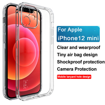 for iPhone 12 Pro Case IMAK UX-6 Shockproof Transparent Soft Back Cover Case for iPhone 12 Mini 12 Pro Max image