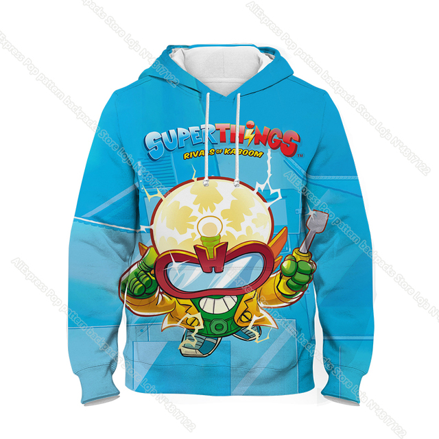 Children Super Zings Hoodie Boys Girls Cartoon 3D Printed Pullovers Kids Superzings Sweatshirt Harajuku Streetwear Spring Winter 3