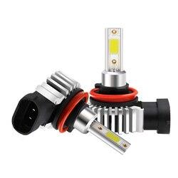 Тип СВЕТОДИОДА направленного света H11 H8 H1 H7 881 турбо светодиодный Противотуманные фары автомобиля 72W фары для 8000LM Вентилятор охлаждения 3000K ...