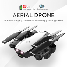 RC Drone with 4K HD Dual Camera Foldable Follow Me Remote Control Quadcopter FPV Professional Helicopter Mini Toy