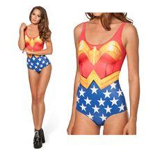 Супер Герой Чудо w Купальник для девочек 3d принт купальники