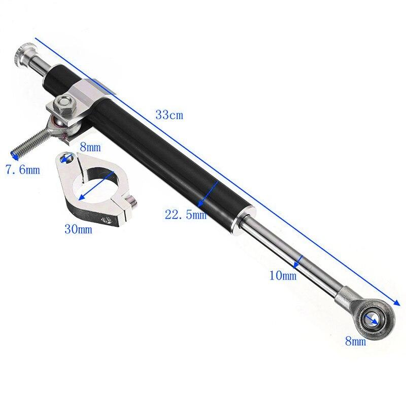 Universal Damper 330mm Aluminum Alloy Steering Fork Stabilizer Black 1pcs Parts Replacement Hot