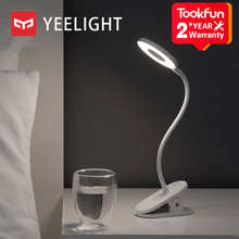 YEELIGHT Clip on Table Lamp LED student read desk lamp study table light Portable bending Bedside night light USB charging