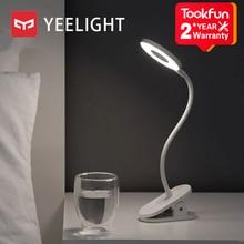 Yeelight clip on candeeiro de mesa led estudante ler lâmpada de mesa estudo luz de mesa portátil dobra de cabeceira luz da noite usb carregamento