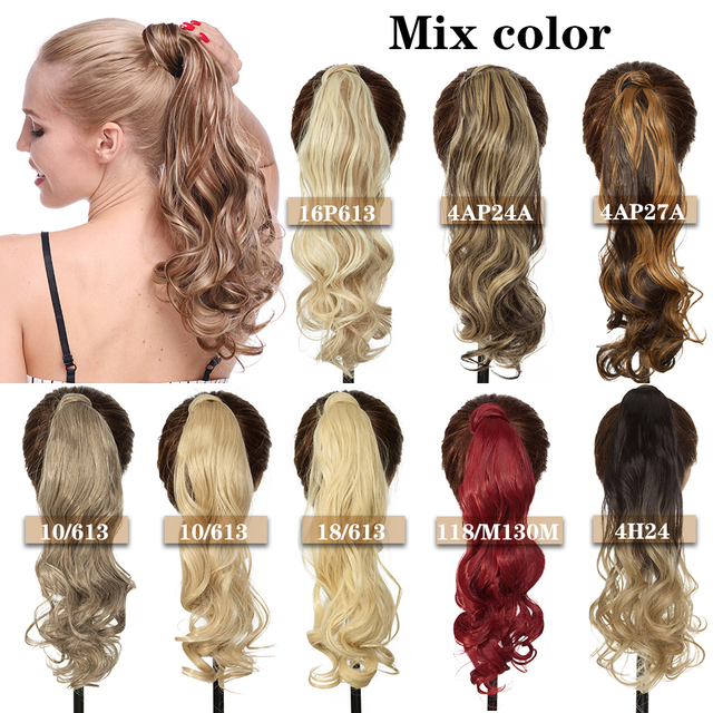 VeryYu 17-23inch Long Wavy Straight Synthetic Hair Extension Hair Care Hair Extensions & Wigs  VerYYu