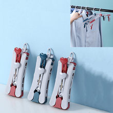 Hanger Portable Durable Folding Clothes Hanger Multifunction Stretch Drying Rack Home Wardrobe Storage Hot Travel Clothes Rack
