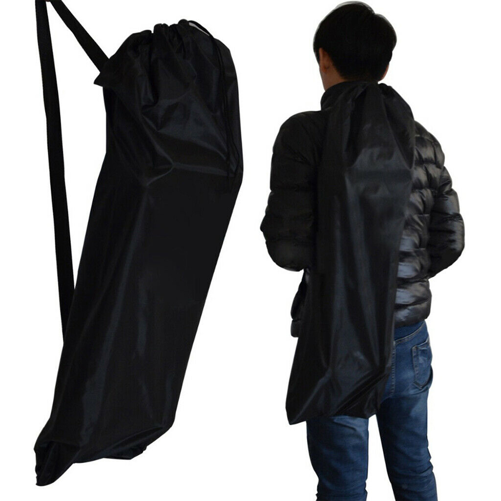 Skateboard Longboard Shoulder Bag Carry Case Oxford Drawstring Bags Black