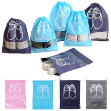 Organizer Travel-Shoes Laundry Storage-Bag 1PC Drawstring Bundleport Mouth Non-Woven