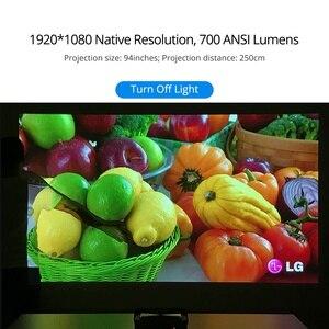 Image 5 - Projektor Everycom G7 DLP 1080P Android 6.0 Wifi Bluetooth aktywna migawka 3D 3GB DDR4 32GB kino domowe przenośny Beamer