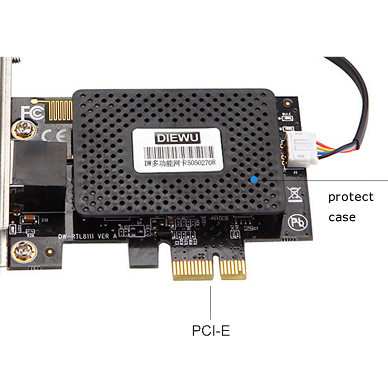 Image 5 - Multifunction 10/100/1000 Mbps PCI E PCI Express to RJ45 Gigabit Network Card with Remote Control to Turn On / Off Desktop PC-in Network Cards from Computer & Office
