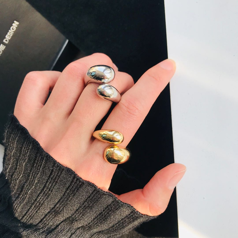 New Fashion Gold Sliver Color Finger Rings Adjustable Openning Metal Ring Women Female Retro Cross Winding Rings