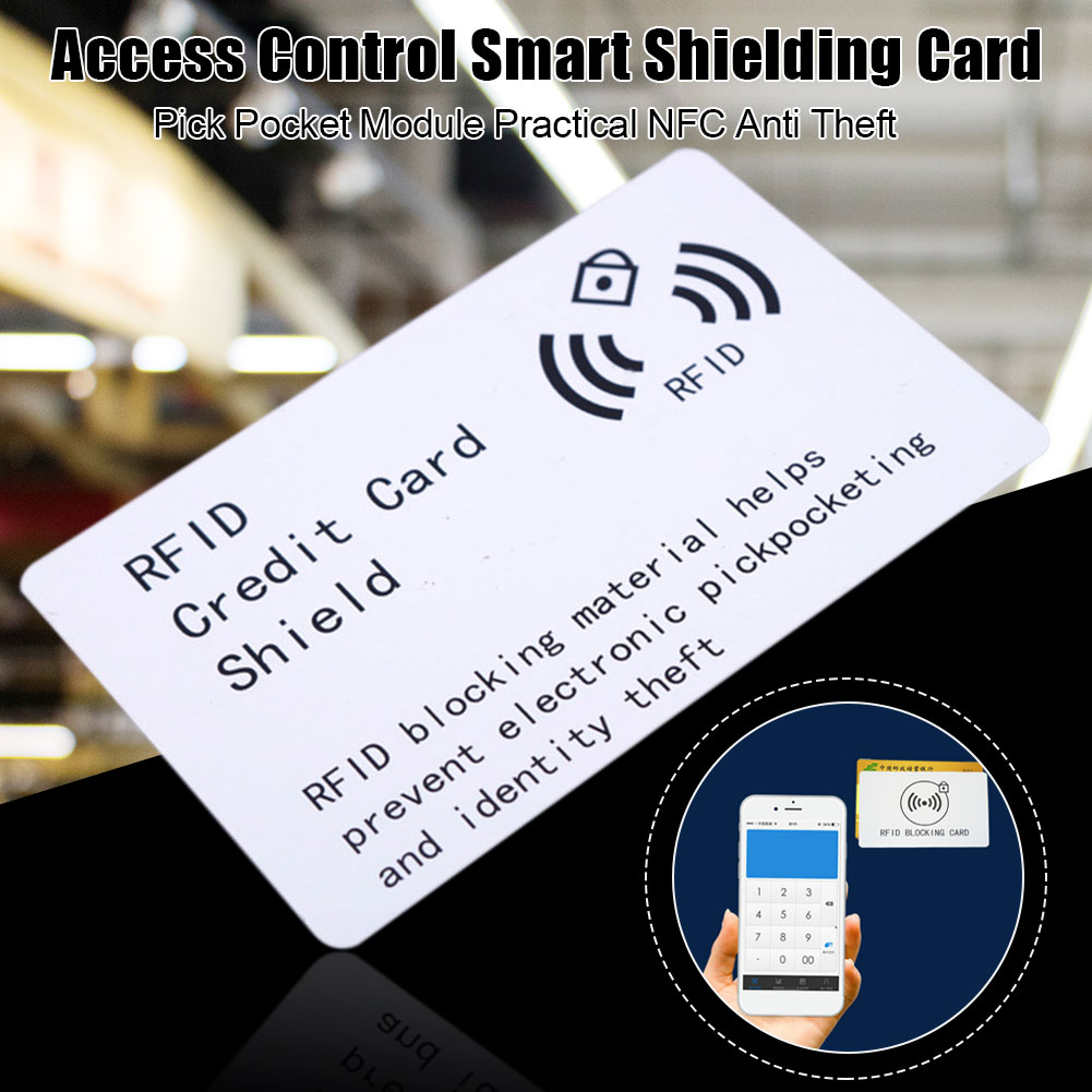 Portable Pick Pocket Module Blocking Smart NFC Access Control Practical Shielding Card Protective High Frequency Thin Anti Theft