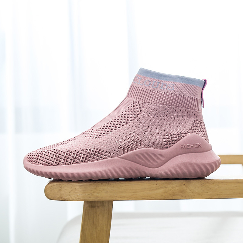 Breathable Women Running Shoes Socks Sneakers High Top Sports Shoes Nonslip Casual Shoes Ladies Comfortable Walking Trainers