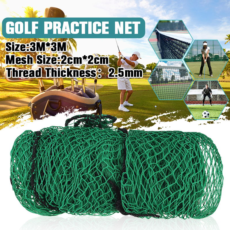 Golf Practice Net Nylon Netting Straps Easy To Fasten 3 Square Net Rope Border Heavy Duty Impact Mesh Netting