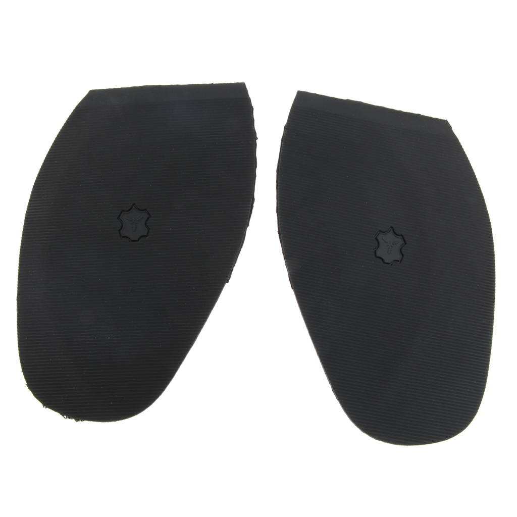 Rubber Glue On Half Soles Anti Slip Shoe Repair Tips Pad Replacement Black Half Outsole Replacement DIY Mat Cushion Forefoot Pad