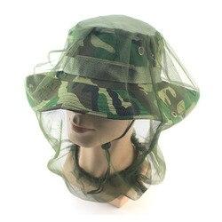 Outdoor Men zapobiegaj ukąszeniu komarów siatka na głowę siatka ochraniacz na twarz czapka owad pszczoła na słońce kapelusz czapka oddychające czapki czapki wędkarskie