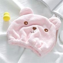 Wrapped-Towel Shower-Cap Bathing-Cap Quickly-Dry-Hair Bathroom-Accessories Hair-Turban