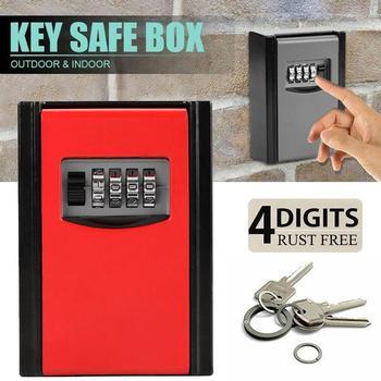 Aluminium Alloy Safety Lock Box 4 Digit Code Store Valuable Things Durable Password Key Box Door Creative Pet Sitters