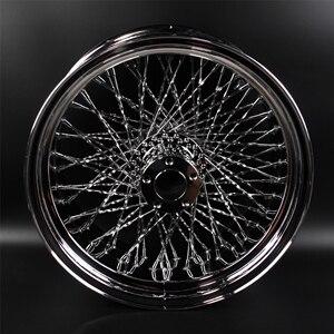 """Image 2 - Jantes de roue arrière chromée pour moto HARLEY DAVIDSION, 18 """"x 10.5"""", Modification"""