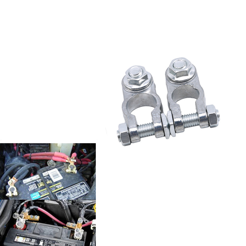 Hot 2Pcs Car Battery Connector Post Battery Terminal Pile Cap Charging Clamp Connector Car Truck Battery Terminal Connector|Car Batteries| |  - title=