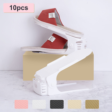 Shoe-Rack Storage-Stand Cabinet Support Closet Adjustable Space-Saving 10pcs for Organizer