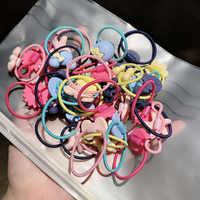 20 Pcs Bunte Kind Kinder Haar Halter Nette Baumwolle Gummi mit karton blume tier pendent Haar Band Gummibänder Zubehör Mädchen