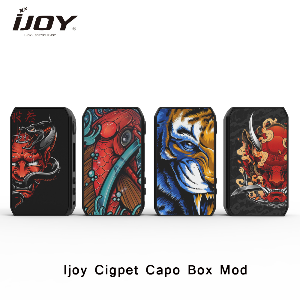 IJOY Cigpet Capo Box MOD 126w 126w Powered By Dual 18650 Batteries Vape Mod VS Drag 2/Dovpo M Vv