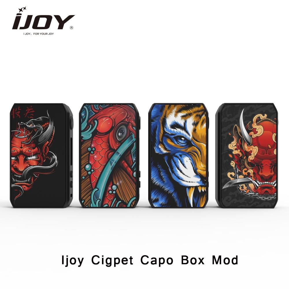 IJOY Cigpet Capo Box MOD 126w 126w Powered By Dual 18650 Batteries Vape Mod VS Drag 2/Dovpo M Vv