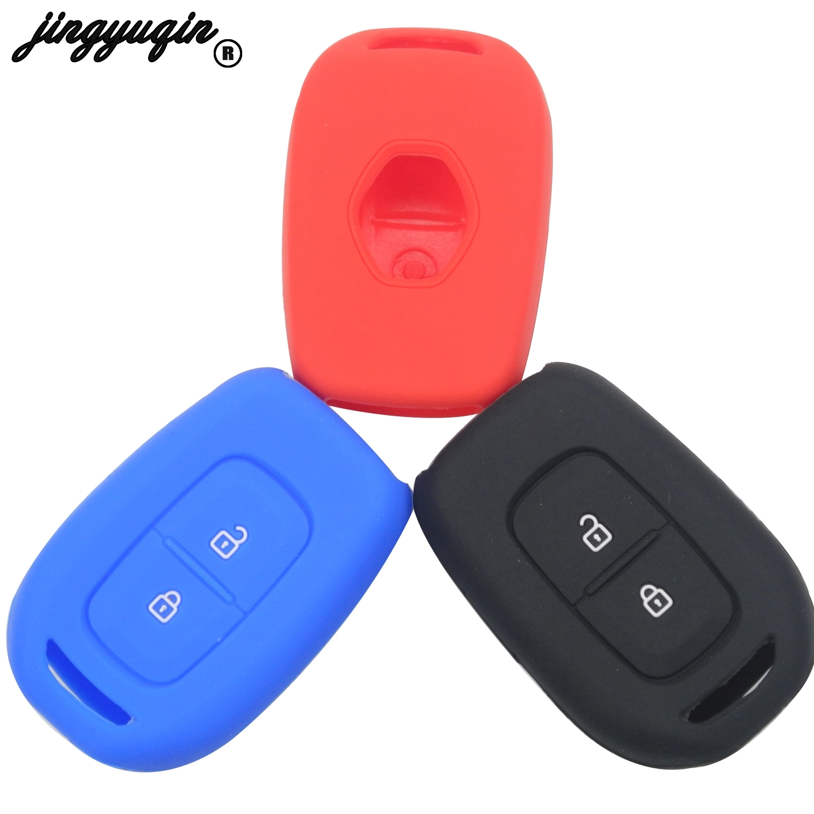 Jingyuqin 2 Buttons Remote Silicone Car Key Case For Renault Scenic Master Megane Duster Logan Clio Captur Laguna
