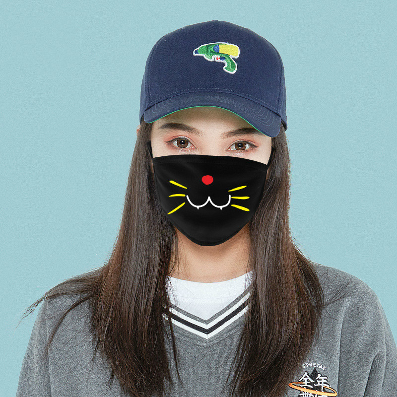 Cute Cartoon Face Mask Funny Teeth Pattern Anti-bacterial Unisex Dust Winter Warm Mouth Mask Multi Style Hot Sale
