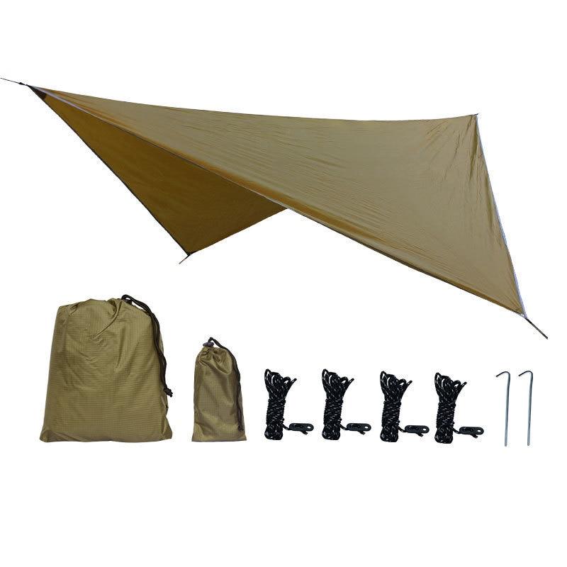 360x290cm Waterproof Tarp Tent Shade Outdoor Camping Hammock Rain Fly UV Garden Awning Canopy Sunshade Ultralight 5 Colors