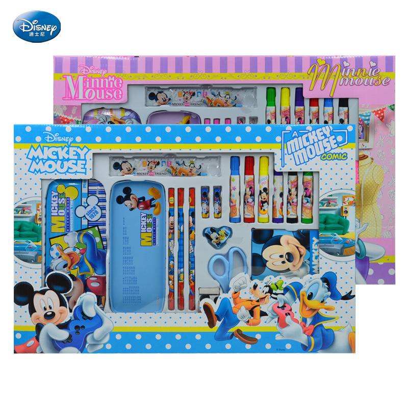 Hot Sales Genuine Product Minnie Students Stationery Gift Box Cartoon Children Watercolor Pen Gift Box Gift Stationery Set