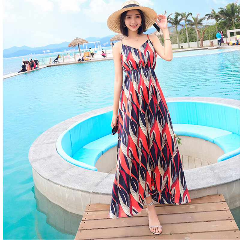 <font><b>Dress</b></font> Boho Maxi <font><b>Backless</b></font> Floral <font><b>Sexy</b></font> V-Neck Off-Shoulder Womens Summer Fashion Female Vacation Beach-Party <font><b>Dress</b></font> image