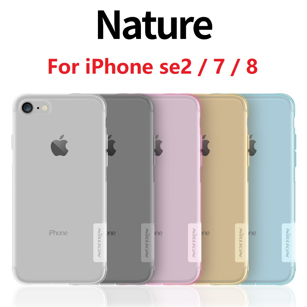Iphone Se 2020 Case | For IPhone Se 2020 Se2 Case For IPhone 7 8 Plus Case NILLKIN Nature Transparent TPU Ultra Thin Clear Silicon Soft Back Cover
