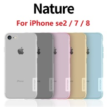 Case For iPhone 7 Case For iPhone 7 Plus NILLKIN Nature Transparent TPU Clear Silicon Soft Back Case Cover For iPhone 7 / 7 Plus baseus travel case tpu pc back cover for iphone 7 plus gold