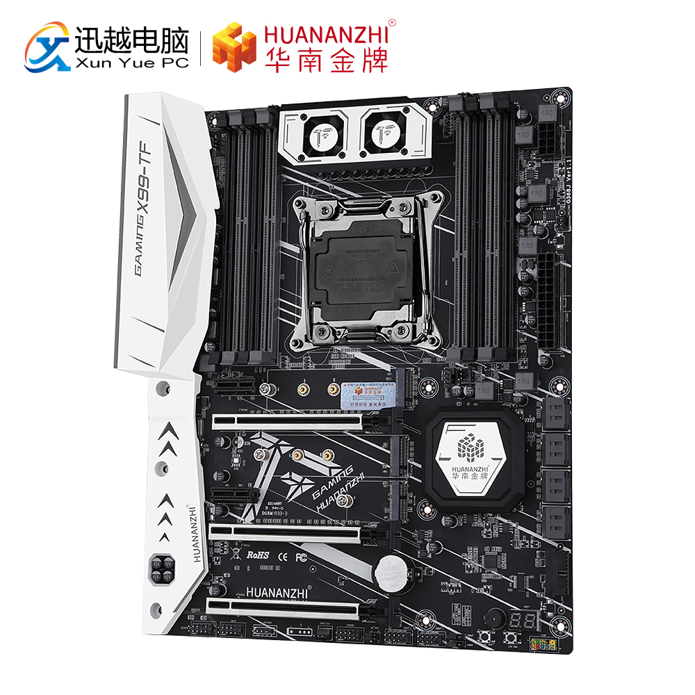 HUANAN ZHI X99-TF GAMING Motherboard Intel LGA 2011-3 X99 Todas As Séries DDR3/DDR4 128GB RECC M.2 NVME M.2 WI-FI SPDIF USB3.0 ATX