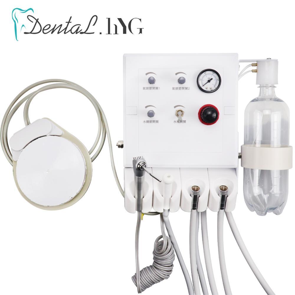 Nouvelle unité de Turbine Portable dentaire avec faible aspiration unité dair déquipement de laboratoire dentaire avec 2 Tubes de pièce à main de rechange blanchiment des dents