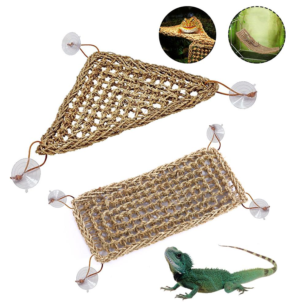 Seaweed Reptile Lizard Hammock Swing Hamster Reptile Pet Lounger Grass Mat Pet Hanging Bed Mat Small Hermit Crabs Geckos Bed