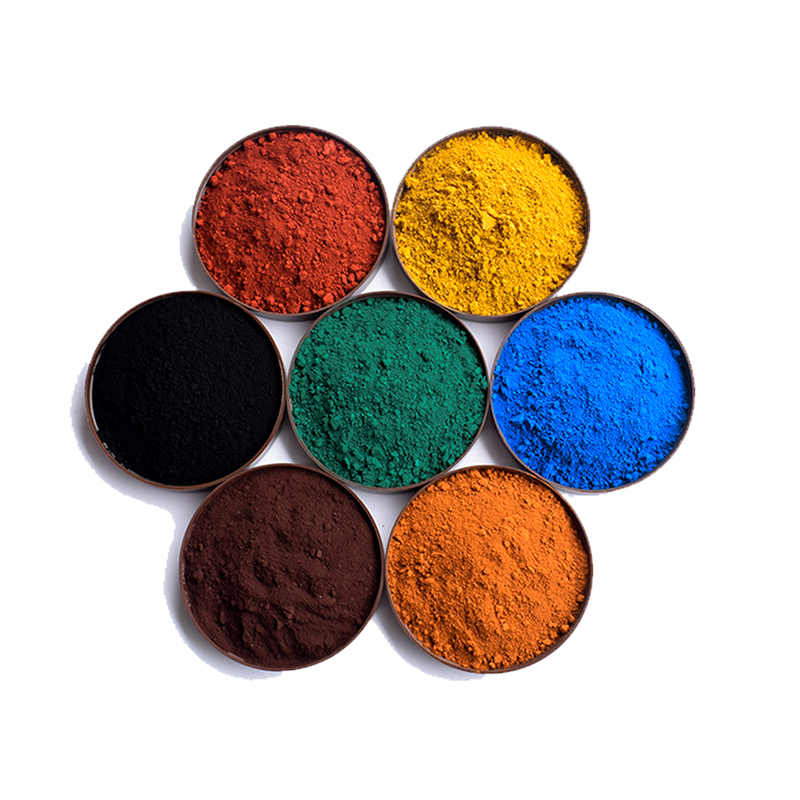 Iron oxide pigment cement tinting red yellow black green blue pastel tile paint color pigment DIY Manually Paving Concrete molds