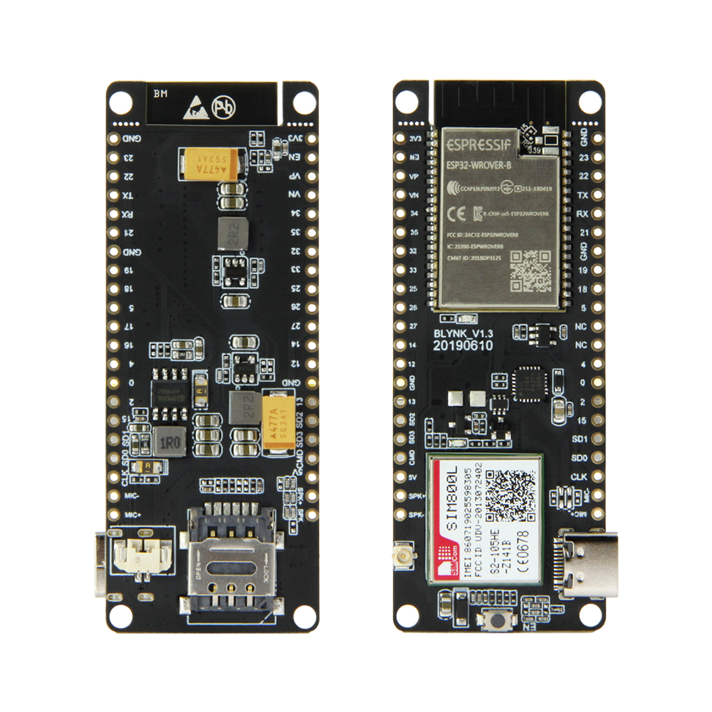 LILYGO®TTGO T-Call V1.3 ESP32 وحدة لاسلكية GPRS هوائي بطاقة SIM SIM800L وحدة وهوائي GSM/GPRS