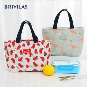 Brivilas Lunch-Bag Bags Food-Box Bento-Cooler Breakfast Flamingo Funny Picnic Kids Portable