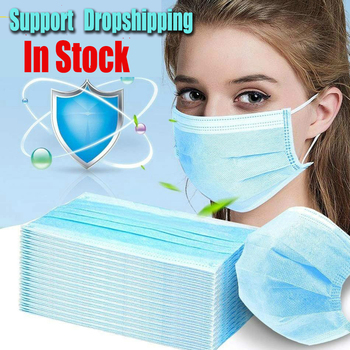 10-200Pcs Disposable Mouth Mask Protect Regular Mouth Nose Covers Non-woven Face Mask Safe and Breathable High Quality Facemask