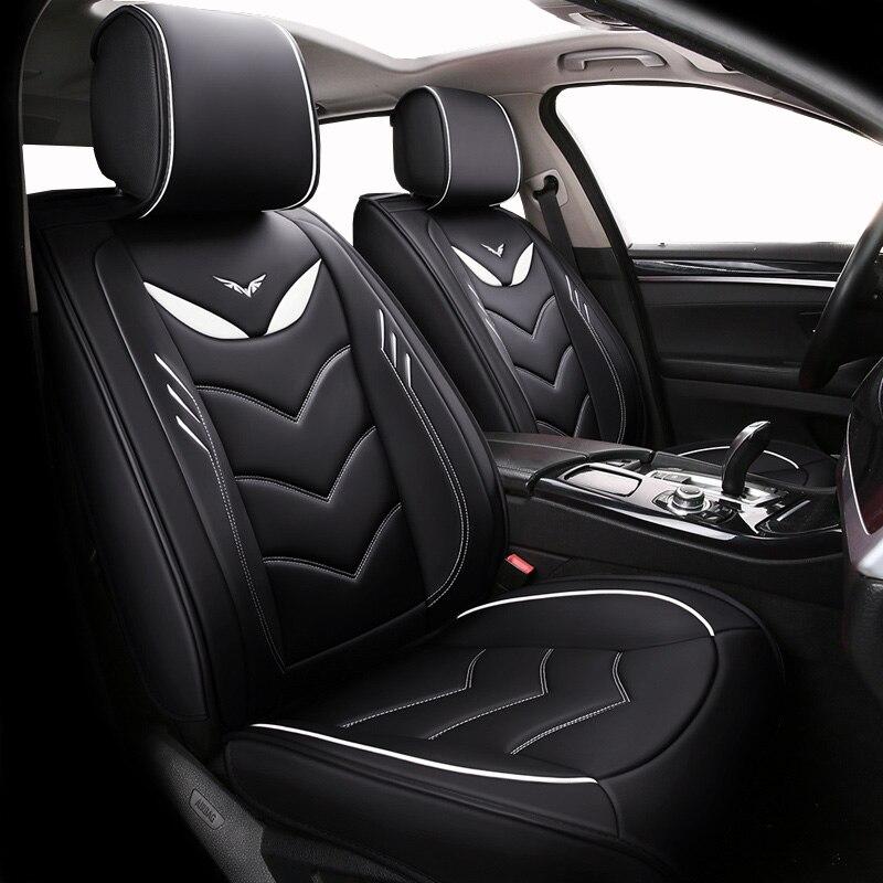 (Avant + arrière) housses de siège de voiture en cuir spécial pour brillance faw v5 byd f0 f3 s6 Cadillac cts srx cs35 chery tiggo 5 t11
