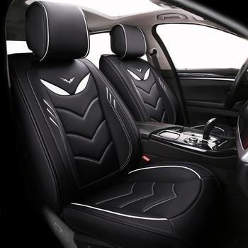 (Delantero + trasero) fundas especiales de cuero para asientos de coche para brillantez faw v5 byd f0 f3 s6 cts srx cs35 chery tiggo 5 t11