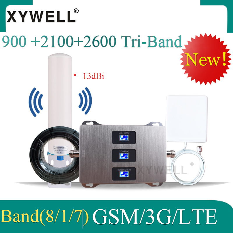 Big Sale!! 900 2100 2600 2G 3G 4G Gsm Signal Repeater 3G Cellular Amplifier  GSM UMTS LTE Tri Band Mobile Signal Booster